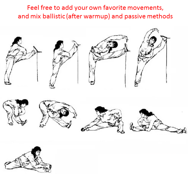 example of full stretching routine
