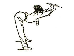 example of shoulder and waist stretch ballistic